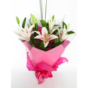 Pink Oriental Lilly Bouquet